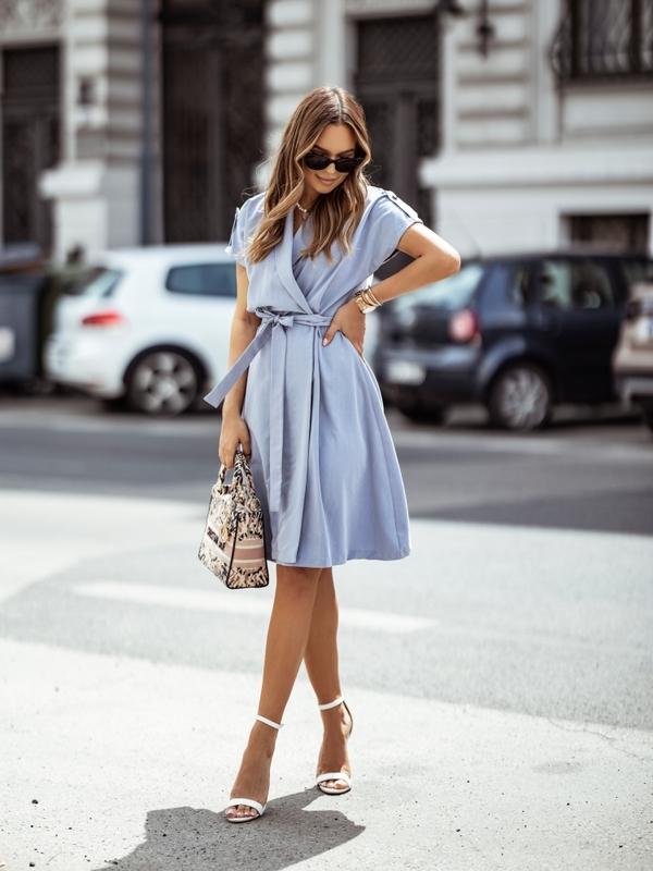 Sukienka Bella Niebieska