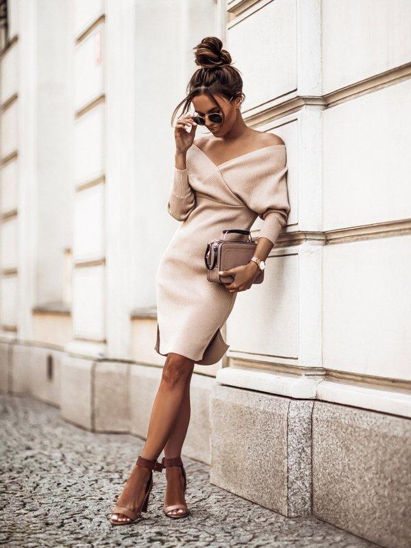 Sukienka Janetta Beżowa