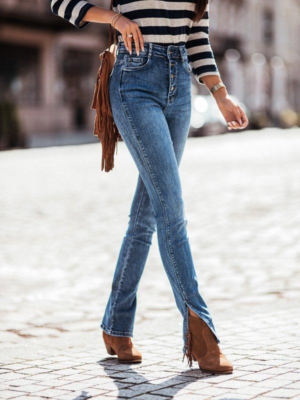 Spodnie Narella Jeans Niebieskie