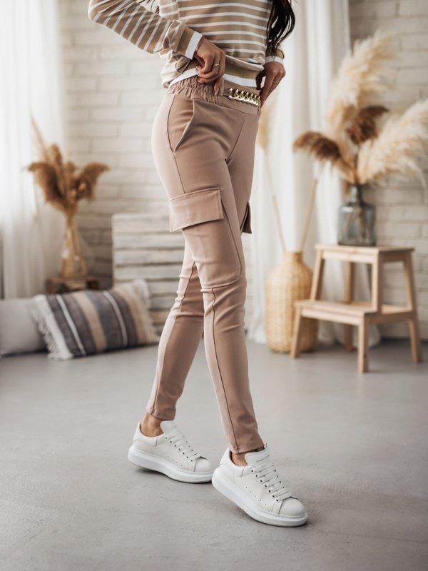 Spodnie Glow Pudrowe