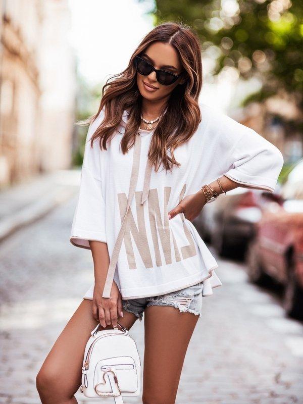 Sweter NML Beige Biały