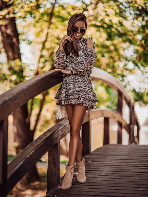 Sukienka Felusone Brązowa