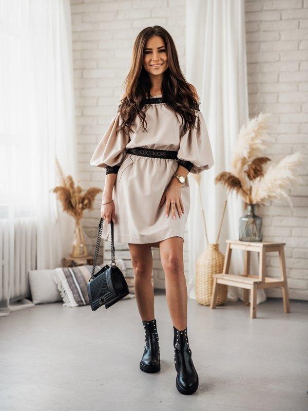 Sukienka Revelo Pudrowa