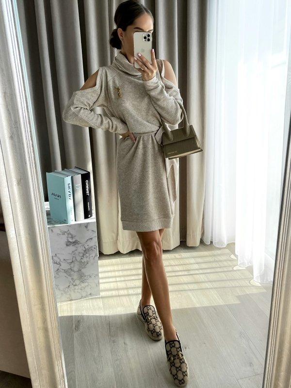 Sukienka Moly Beżowa