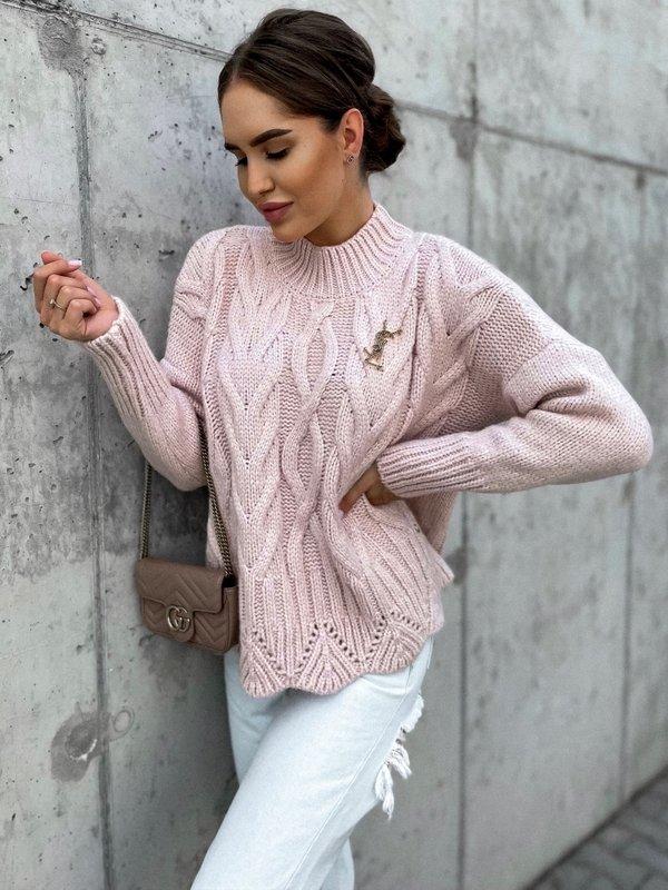 Sweter Libbie Pudrowy