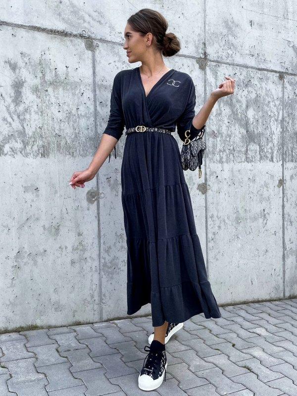 Sukienka Sheilin Grafitowa