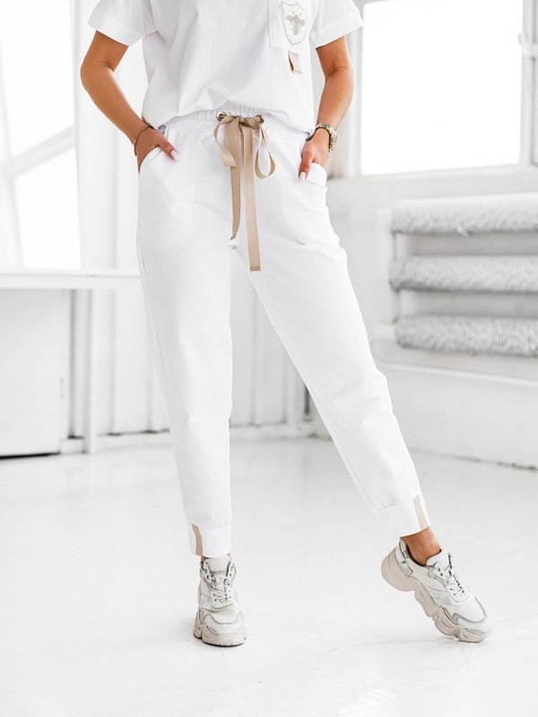 Spodnie Voster Białe