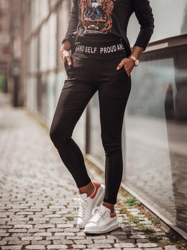 Spodnie Self Proud Czarne