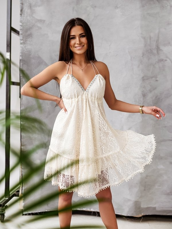 Sukienka Cassandra Kremowa