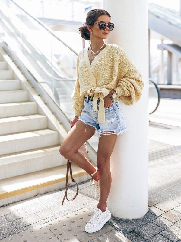 Sweter Rita New Żółty
