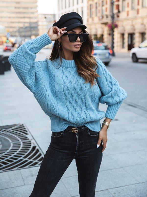 Sweter Rubino Błękitny