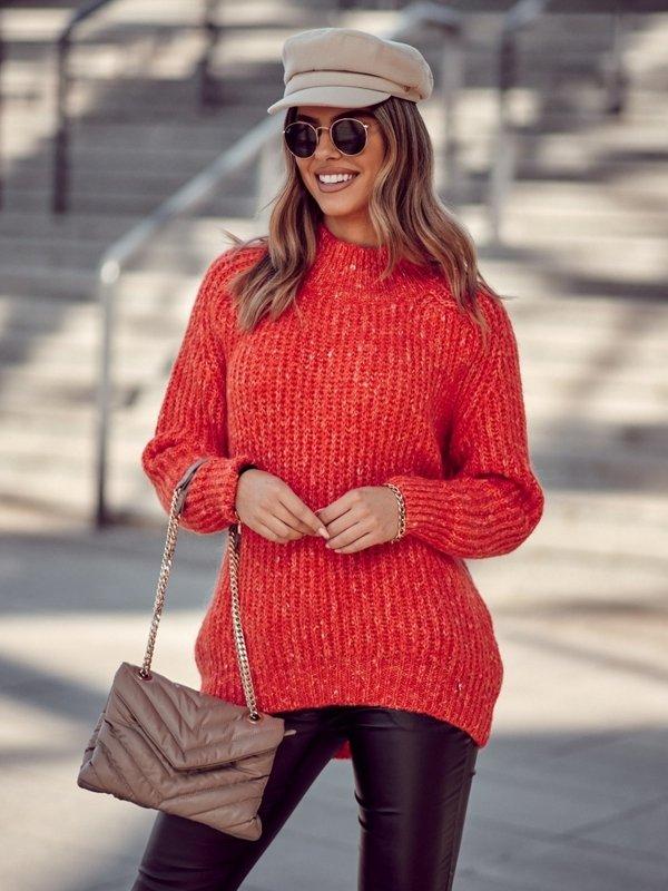 Sweter Horton Long Pomarańczowy