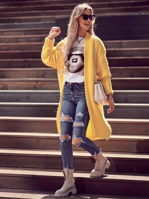 Sweter Remise Żółty