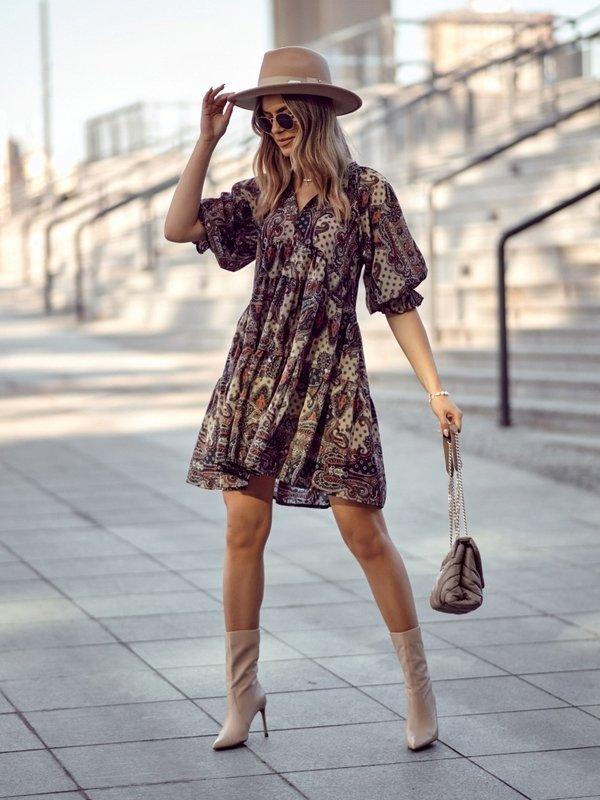 Sukienka Marina Beżowa