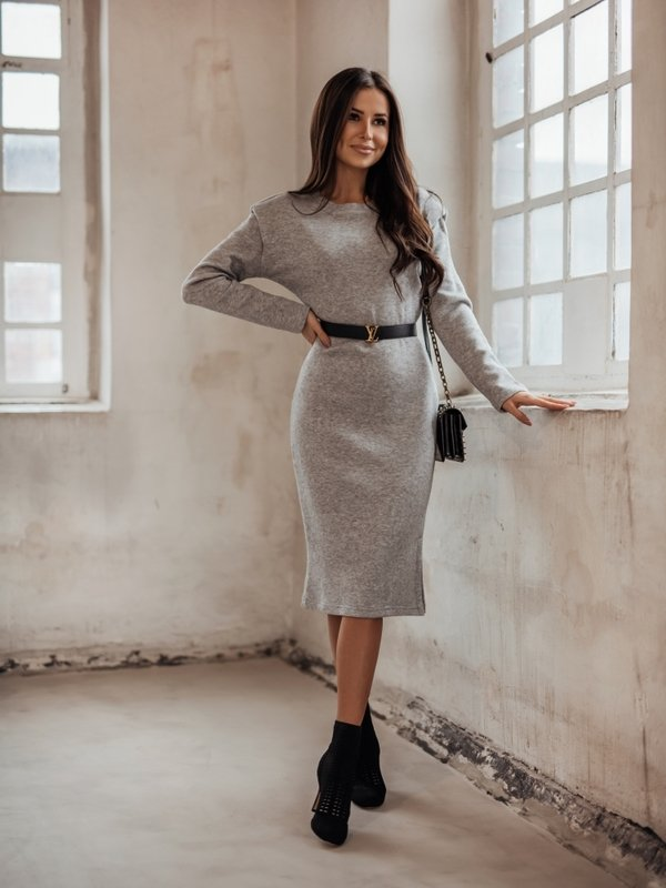 Sukienka Mavrone Szara