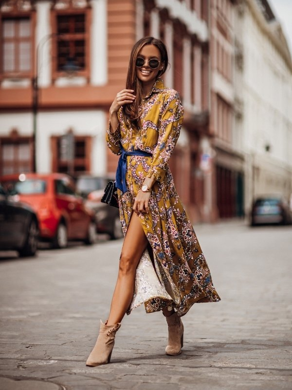 Sukienka Lissie Musztardowa