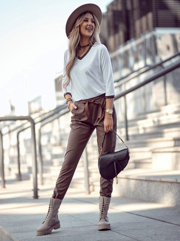 Spodnie Salia Brązowe