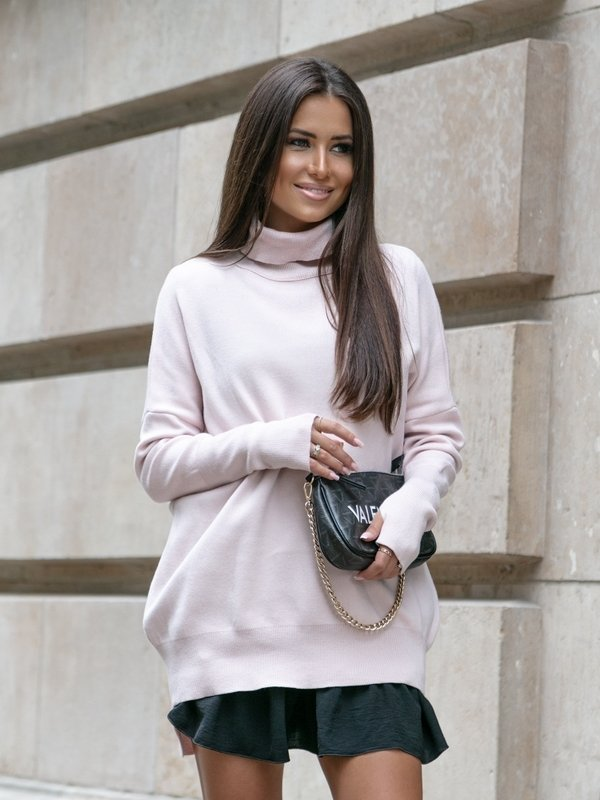 Sweter Violett Pudrowy
