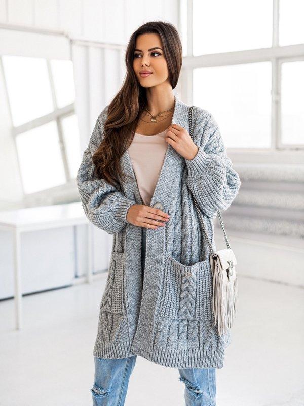 Sweter Aurella Szary