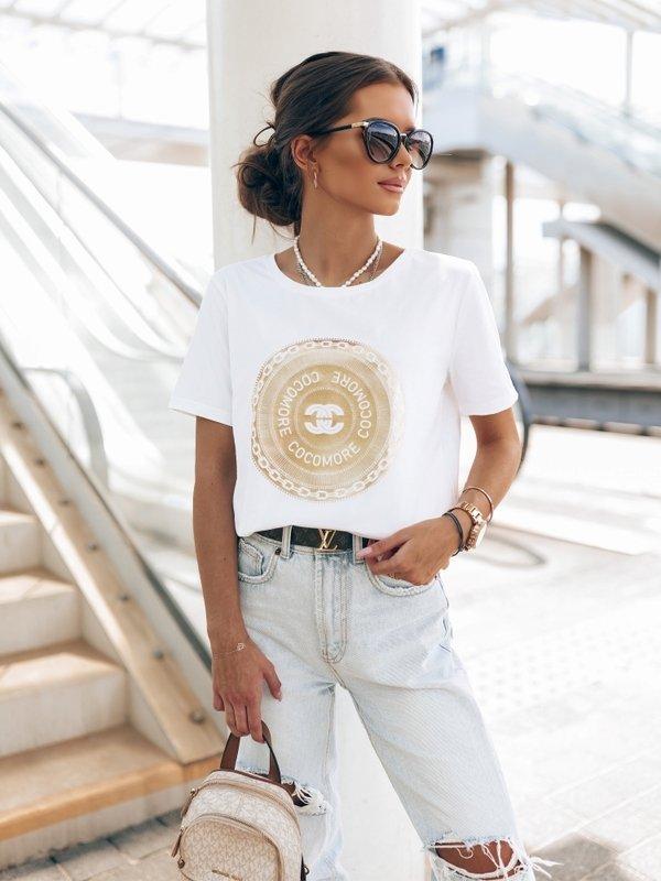 T-shirt Gold Coin Biały
