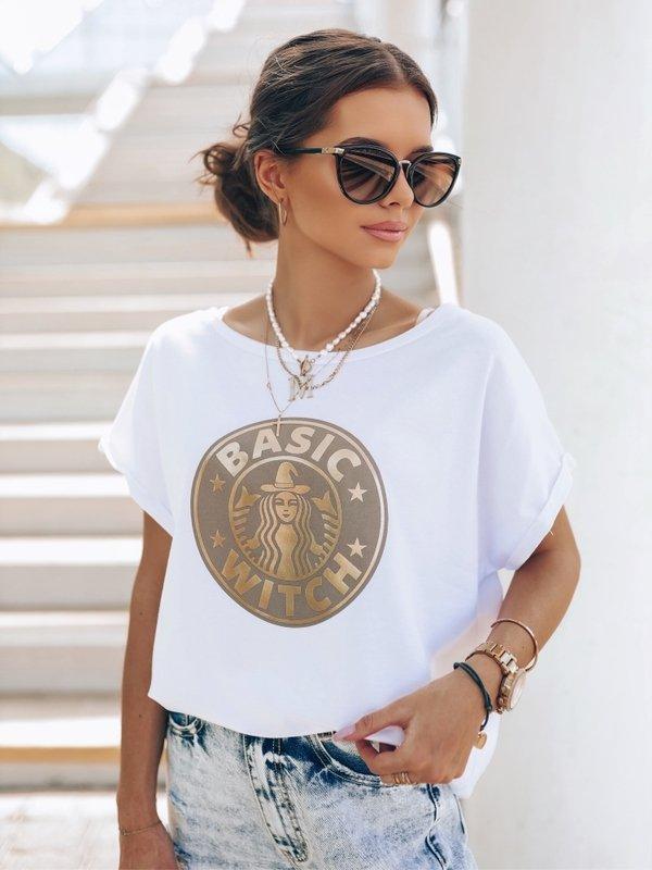 T-shirt Basic Witch Biały