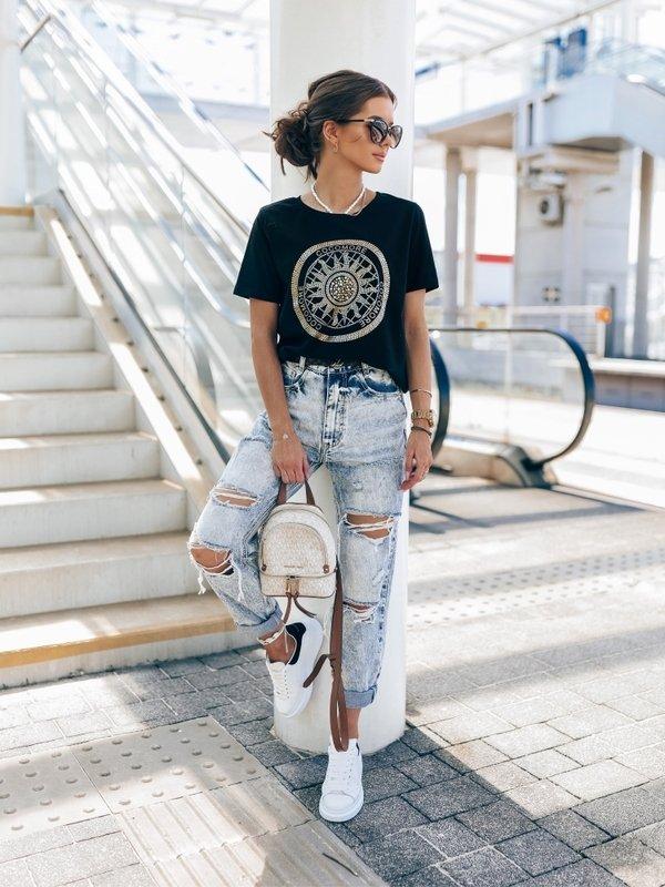 T-shirt Coco Sun Czarny