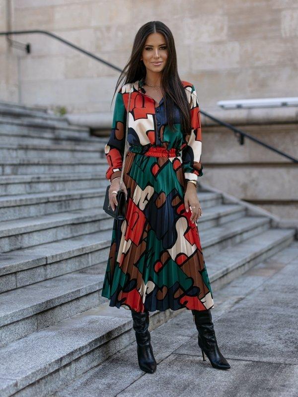 Sukienka Mahony Pomarańczowa