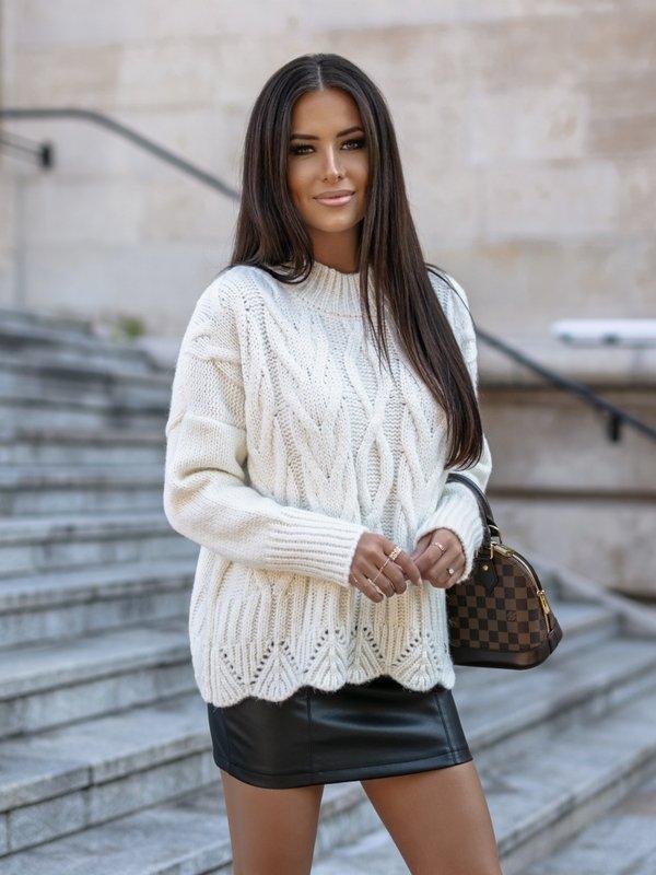Sweter Libbie Kremowy