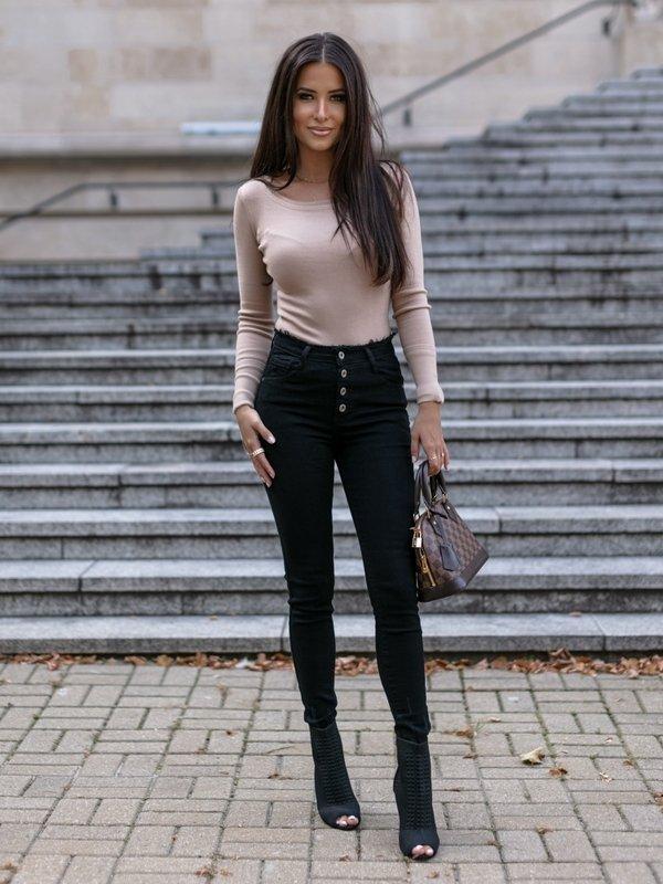 Spodnie Ragged Jeans Czarne
