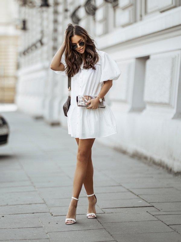 Sukienka Joelle Kremowa