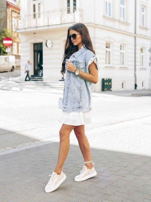 Kamizelka Daphne Jeans Niebieska