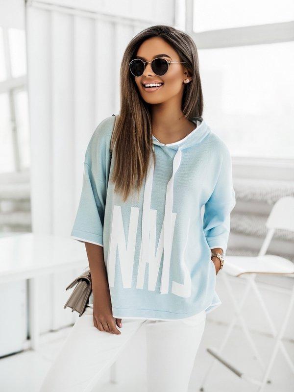 Sweter NML Błękitny