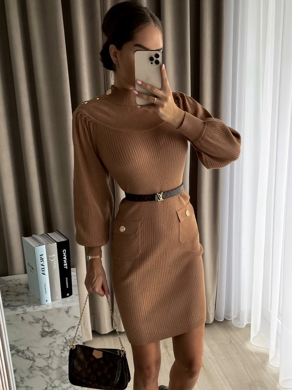 Sukienka Moby Karmelowa