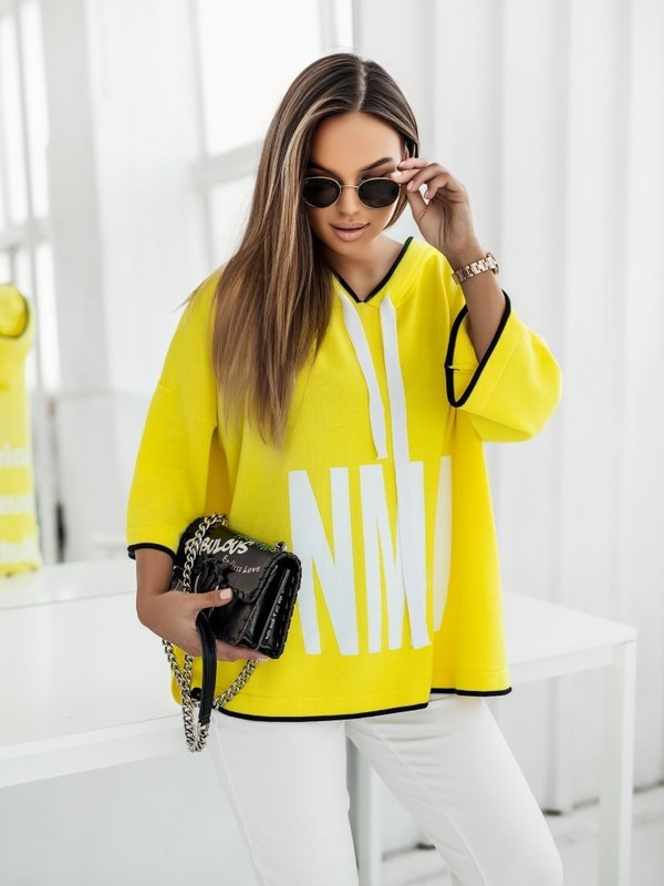 Sweter NML Black Żółty