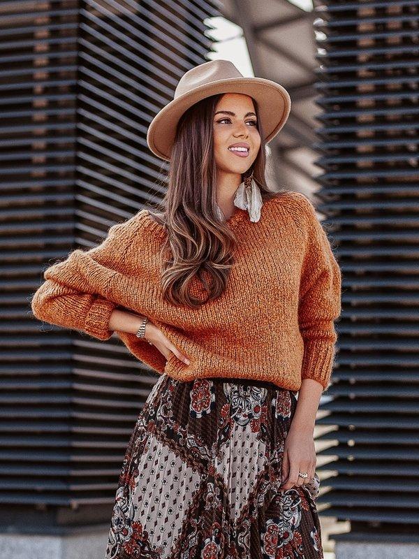 Sweter Dakota Karmelowy