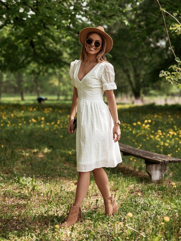 Sukienka Helene Kremowa