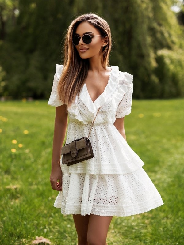 Sukienka Anais Kremowa