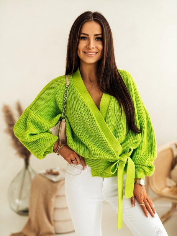Sweter Rita Limonkowy