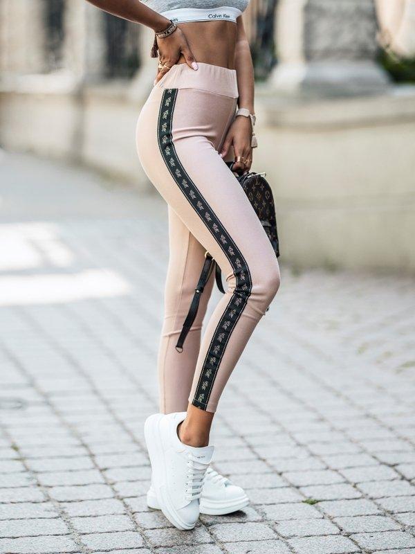 Spodnie Flor Pudrowe