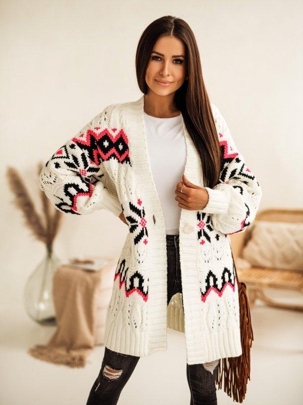 Sweter Paradise Kremowy