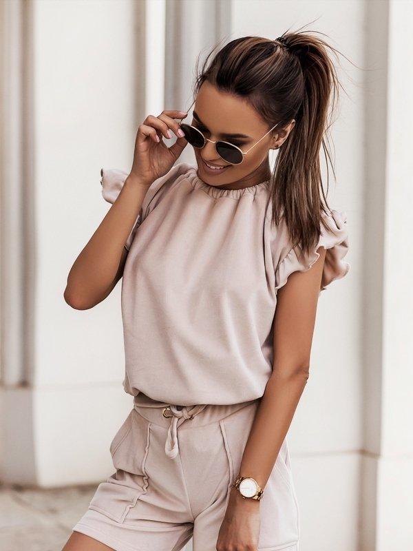 Bluzka Yolande Beżowa