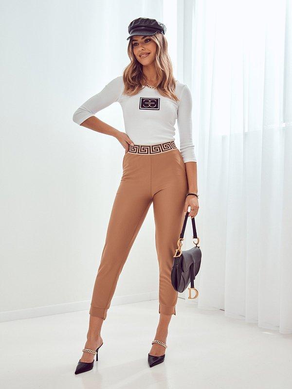 Spodnie Fado Karmelowe