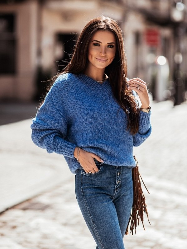 Sweter Ashley Jeansowy