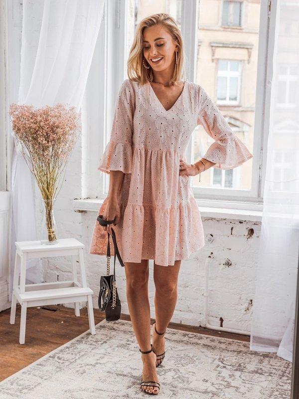 Sukienka Lilia Pudrowa