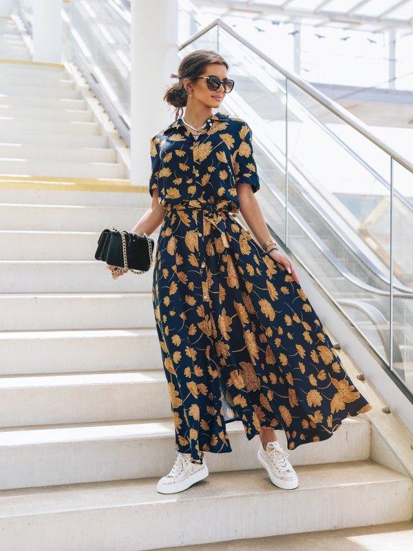 Sukienka Saint Granatowa