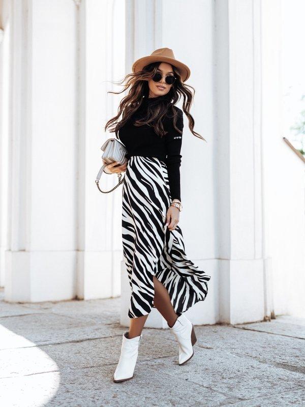 Spódnica Zebra Czarna