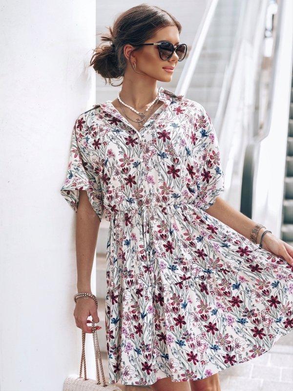 Sukienka Marietta Flower Kremowa