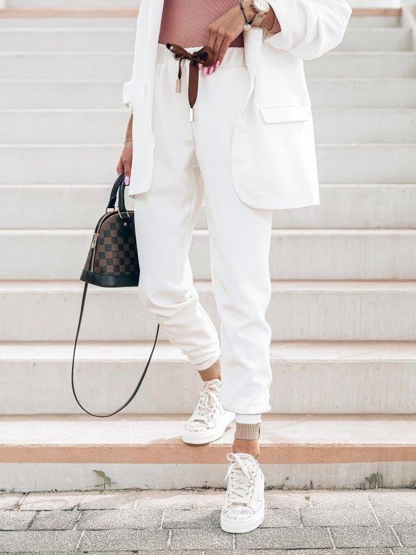 Spodnie Laura Białe
