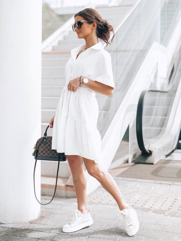 Sukienka Boston Kremowa