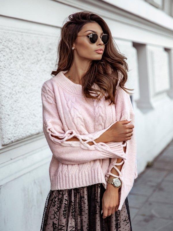 Sweter Rozalie Pudrowy